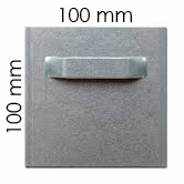 Attache adhésive 100x100 mm