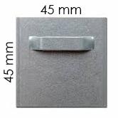 Attache adhésive 45x45 mm