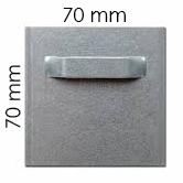 Attache adhésive 70x70 mm